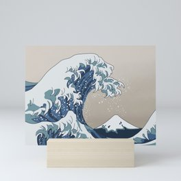 The Big Wave (homage to The Great Wave) Mini Art Print