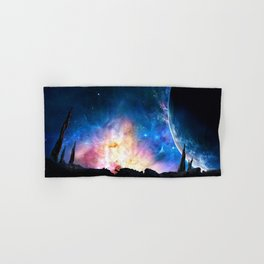 over the galaxy Hand & Bath Towel
