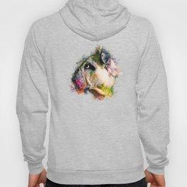 english bulldog dog splatter watercolor Hoody