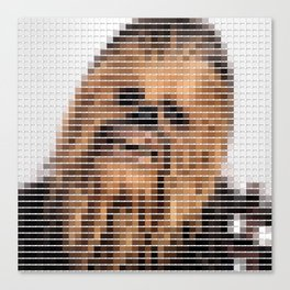 Chewbacca - StarWars - Pantone Swatch Art Canvas Print