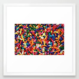 Rainbow Sprinkles Framed Art Print