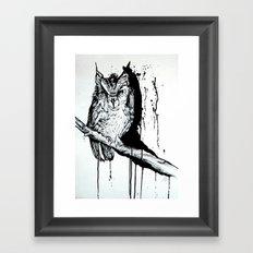 O W L Framed Art Print