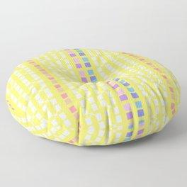 Lemon Mosaic Floor Pillow