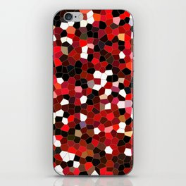 Mosaic tiles in Red and Black iPhone Skin