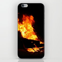 Burning couch  iPhone Skin