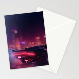 Cyberpunk - The night city Lights Stationery Cards