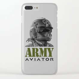 Army Aviator Military Pilot Clear iPhone Case
