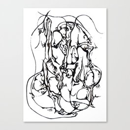 black and white hidden dancer Canvas Print