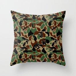 Dachshund  Camouflage Throw Pillow