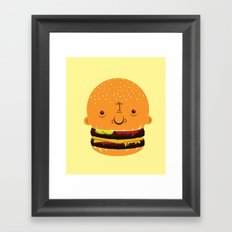 Cheeseburgerhead Framed Art Print