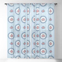 Korea traditional flower art moran3 Sheer Curtain