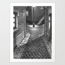 Streets crossing Art Print