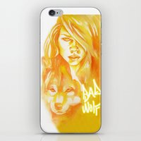 bad wolf iPhone & iPod Skins featuring Bad Wolf by Erin Garey