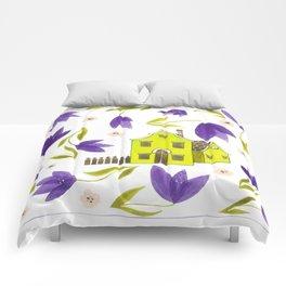 Crocus flowers Comforters