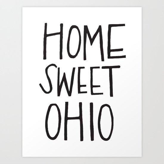 Home Sweet Ohio Art Print