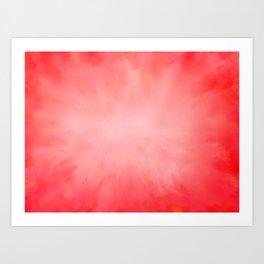 Pink Coral Watermelon Art Print
