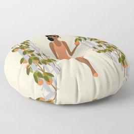 orange trees Floor Pillow