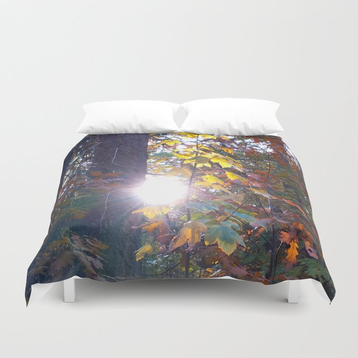 The Light Shines Through Duvet Cover