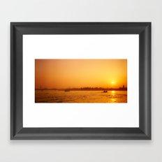 Venetian Sunset Framed Art Print