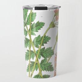 Erodium Manescavi, Botanical, art print of antique Travel Mug