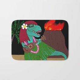 Hawaiian Dinosaur Ukulele Bath Mat