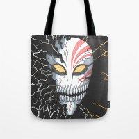 bleach Tote Bags featuring Bleach Hollow Mask by MadameAce