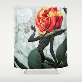 Alice in Wonderland Rose Shower Curtain