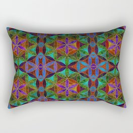 The Flower of Life (Sacred Geometry) 2 Rectangular Pillow