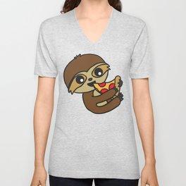 Snacking Sloths Unisex V-Neck