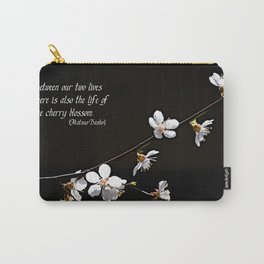 Sakura flowers on black Carry-All Pouch