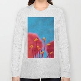 Flower stamens red blue Long Sleeve T-shirt