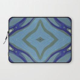 Blue Wave Nautical Medallion Laptop Sleeve