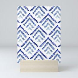 Sea glass - Treeometric - blue Mini Art Print