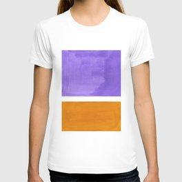Minimalist Abstract Rothko Mid Century Modern Color Field Lavender Yellow Ochre T-shirt