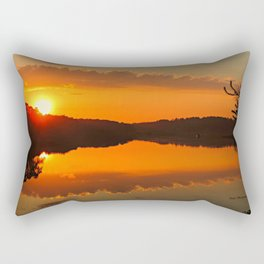 Sunset over the WeWeAntic Rectangular Pillow