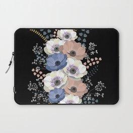 Anemones bouquet in black Laptop Sleeve