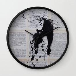 Girl with sunshade Wall Clock