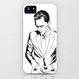 Smart casual, a portrait iPhone Case