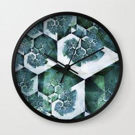 Fossilized Ocean Wall Clock