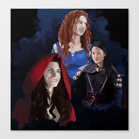 ouat Canvas Prints featuring Warrior Women of OUAT by Christine Ring