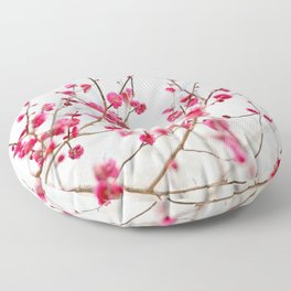 Beautiful Cherry Blossoms at the Imperial Palace in Kyoto, Japan Floor Pillow