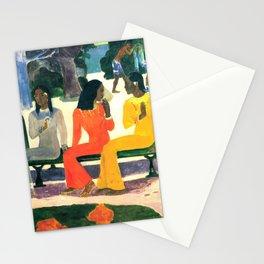 """Paul Gauguin """"Ta Matete (Nous n'irons pas au marché aujourd'hui)(The market)"""" Stationery Cards"""