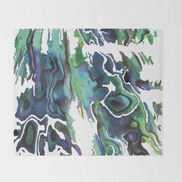 Marble Paua Throw Blanket