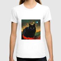 black cat T-shirts featuring black cat by ururuty