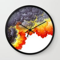 fifth element Wall Clocks featuring Element by Andi_GreyScale