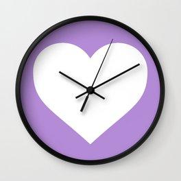 Heart (White & Lavender) Wall Clock