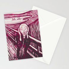 The Scream's Haze (pink) Stationery Cards