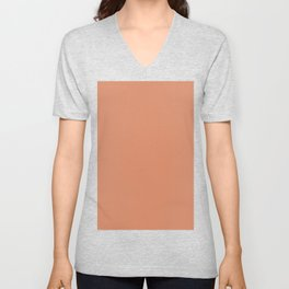 Pale copper Unisex V-Neck