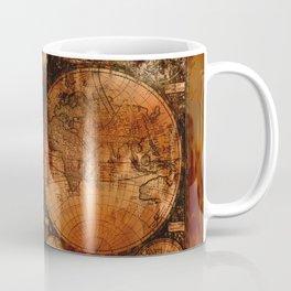 Rustic Old World Map Coffee Mug