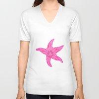 hawaiian V-neck T-shirts featuring Hawaiian Starfish by Teresa Chipperfield Studios